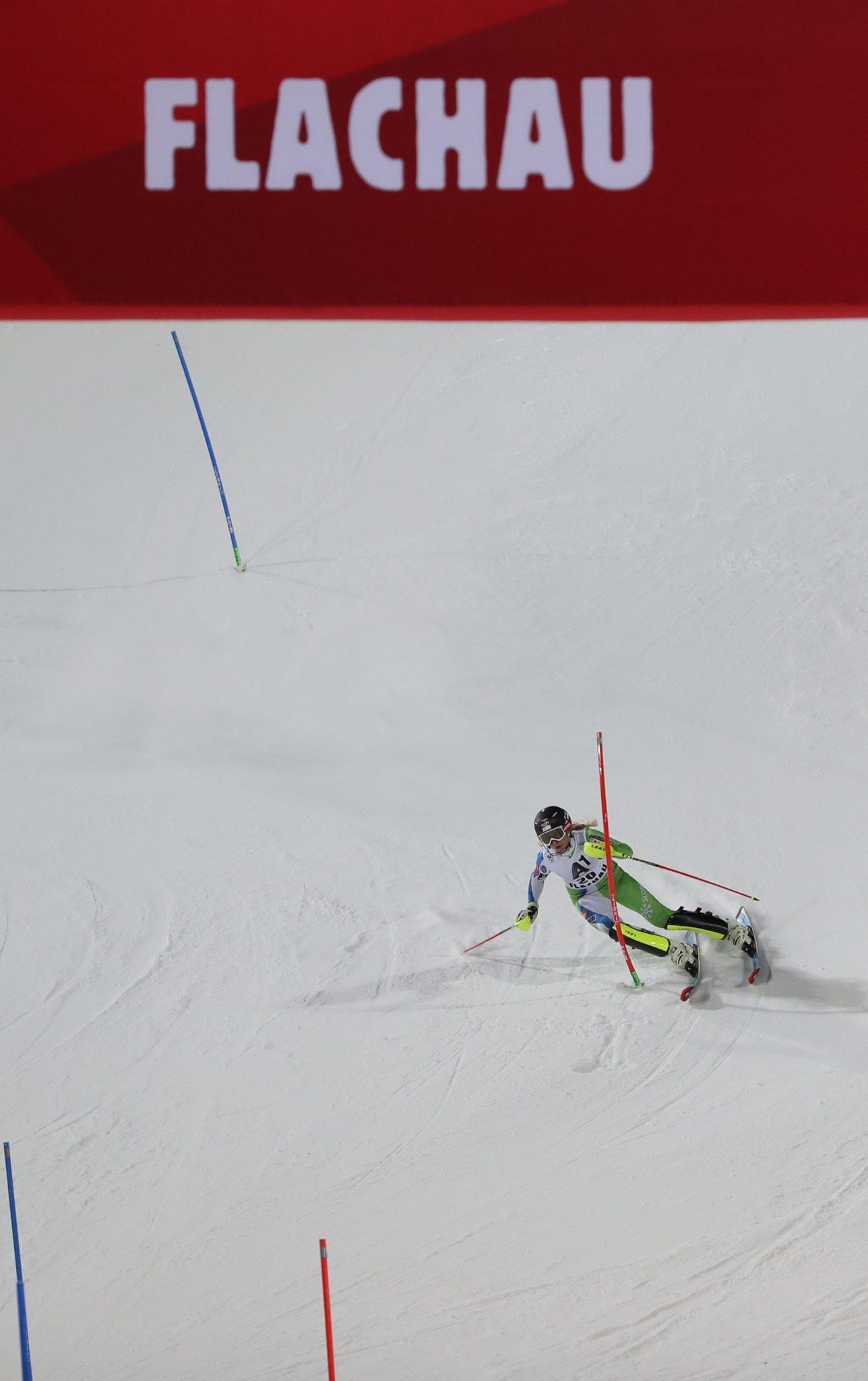 FLACHAU,AUSTRIA,10.JAN.17 - ALPINE SKIING - FIS World Cup, Night Event, Slalom, Ladies. Image Shows Ana Bucik (SLO). Keywords: Stoeckli. Photo: GEPA Pictures/ Andreas Pranter