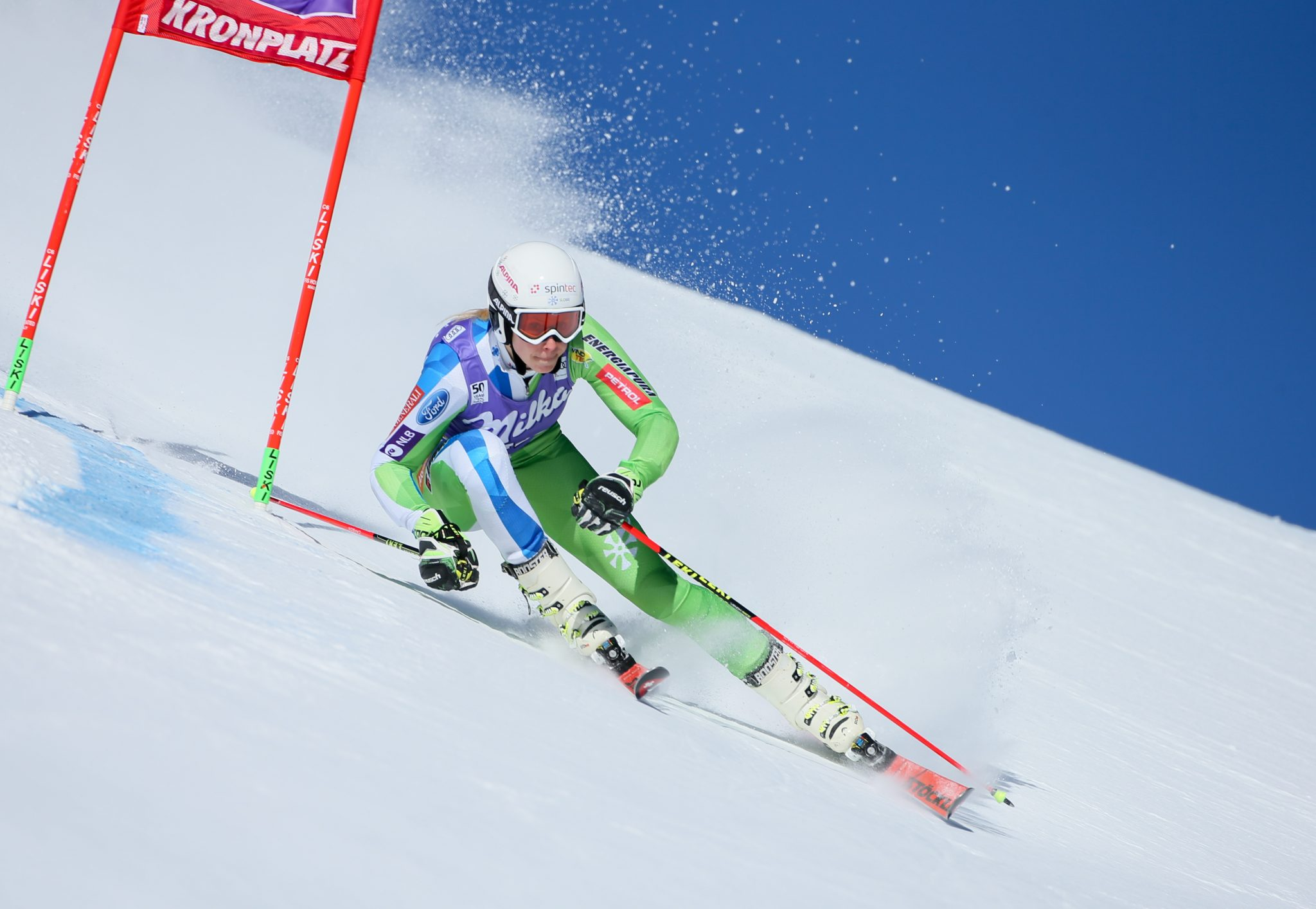 KRONPLATZ,ITALY,24.JAN.17 - ALPINE SKIING - FIS World Cup, Giant Slalom, Ladies. Image Shows Ana Bucik (SLO). Keywords: Stoeckli Photo: GEPA Pictures/ Mario Kneisl
