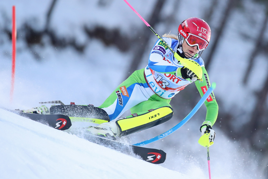 LEVI,FINLAND,11.NOV.2017 - ALPINE SKIING - FIS World Cup, Slalom, Ladies. Image Shows Ana Bucik (SLO). Keywords: Stoeckli. Photo: GEPA Pictures/ Christian Walgram